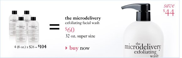 the microdelivery exfoliating facial wash $60...