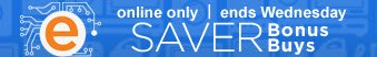 online only | ends Wednesday | SAVER Bonus Buys