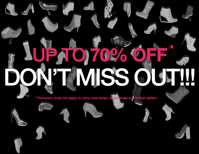 Don't Miss Out!!! Up To 70% OFF