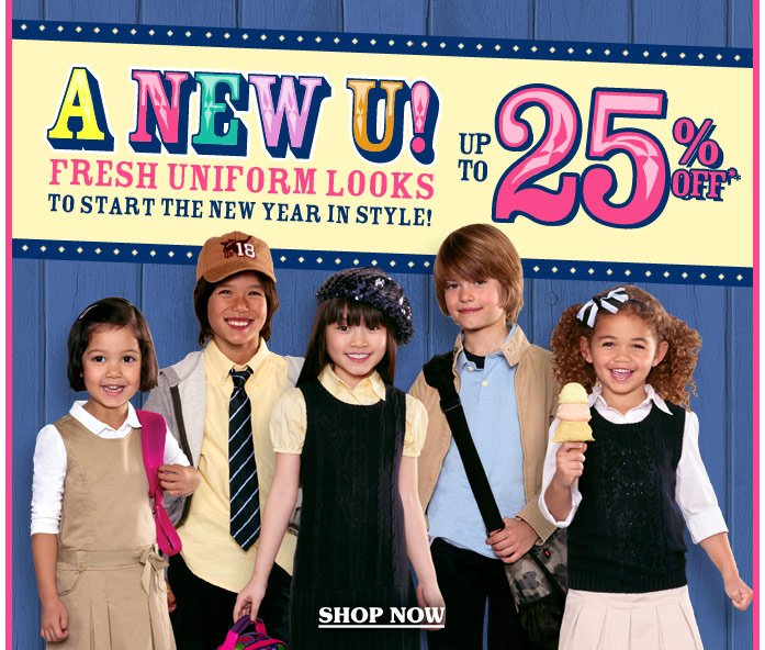 A New U! Fresh Uniform Looks to Start the New Year in Style - Save Up to 25% Off!