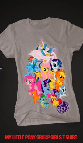 MY LITTLE PONY GROUP GIRL T-SHIRT