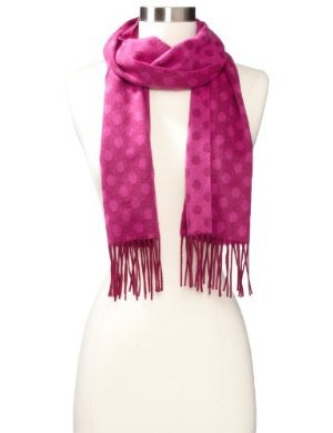 Amicale <br/>100% Cashmere Polka-Dot Scarf