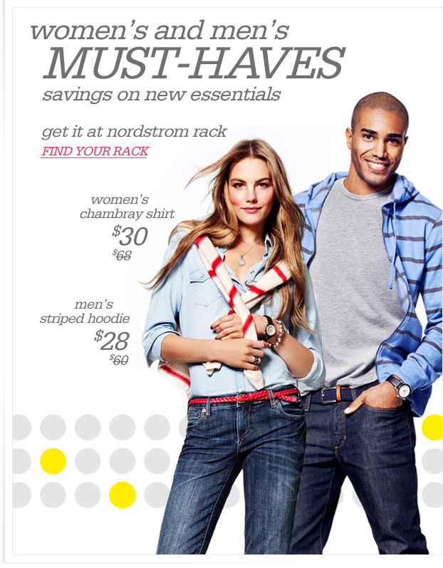 women's and men's MUST-HAVES - savings on new essentials - get it at nordstrom rack