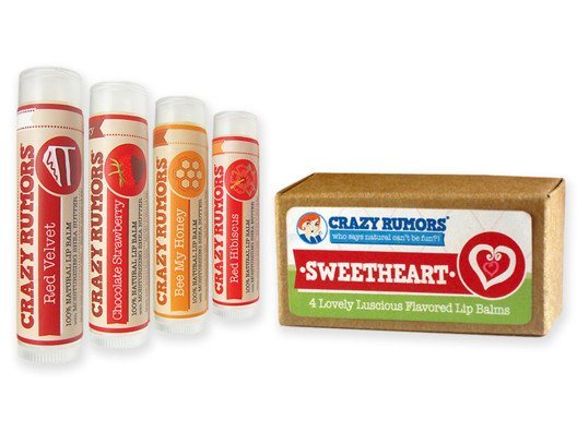 Crazy Rumors Organic Lip Balm Sweetheart Flavors from Alicia Silverstone