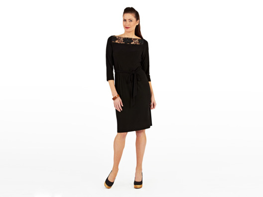 A great-fitting black dress is always in style. I love this one because it's impossibly comfortable yet effortlessly elegant.