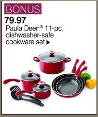 BONUS 79.97 Paula Deen® 11-pc. dishwasher-safe cookware set. Shop now.