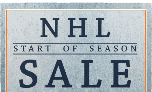 NHL Start of Season Sale