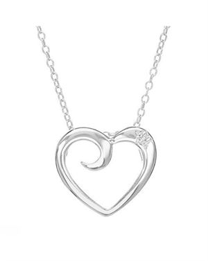 Ladies Diamond Necklace Designed In 925 Sterling Silver