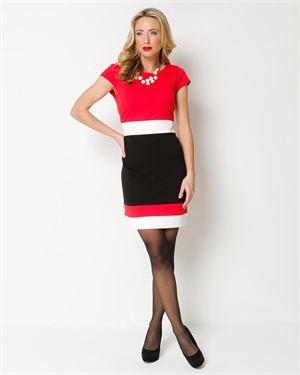 Sandra Darren Three-Color Dress