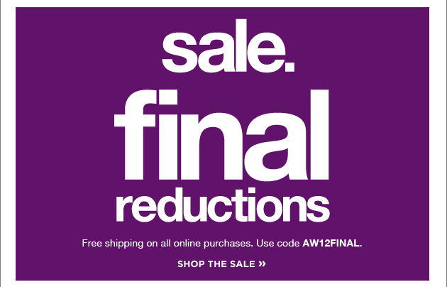 Sale - final reductions