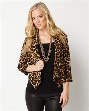 Timing Leopard Print Lightweight Jacket $25