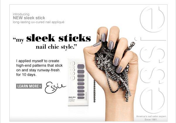 Learn more about essie's sleek sticks