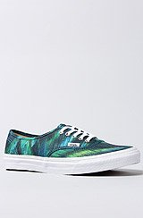 The Authentic Slim Sneaker in Teal Watercolor