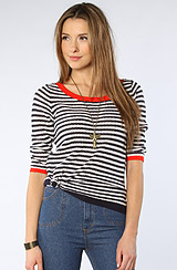 The Nantucket Boatneck Striped Sweater