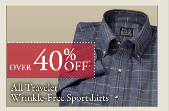 Over 40% OFF* Traveler Wrinkle-Free Sportshirts