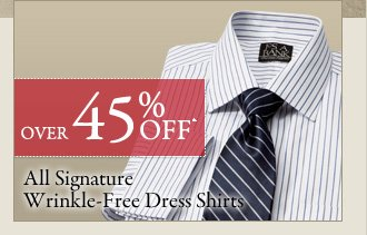 Over 45% OFF* Signature Wrinkle-Free Dress Shirts