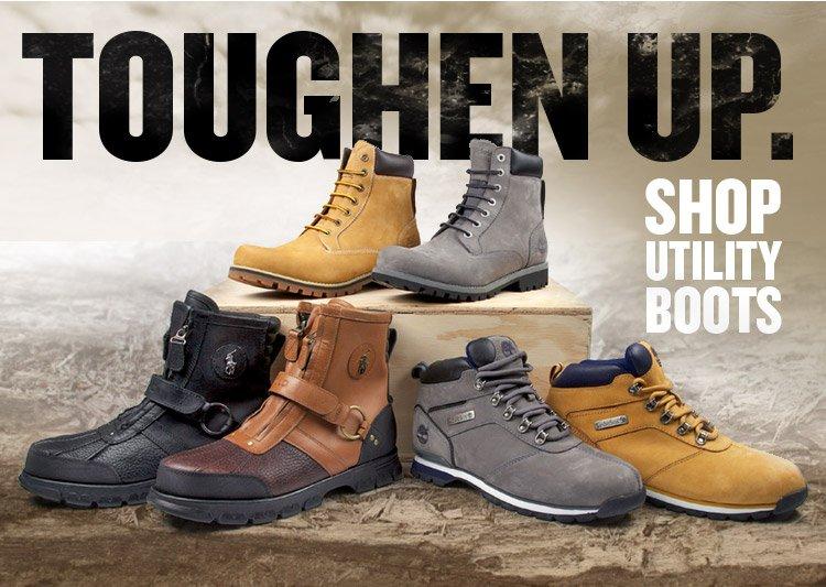 Toughen Up! Shop Utility Boots.