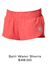 Split Water Shorts $48.00