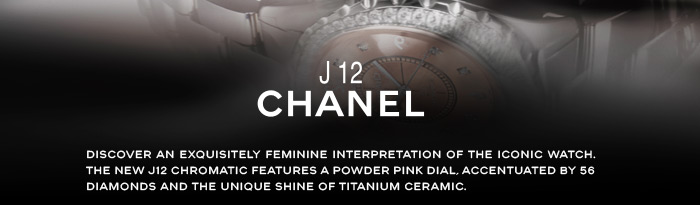 Discover an exquisitely feminine interpretation of the iconic watch.  The new J12 CHROMATIC features a powder pink dial, accentuated by 56 diamonds and the unique shine of titanium ceramic.