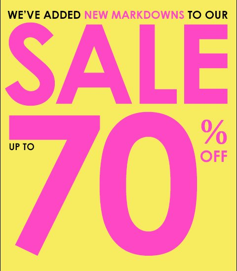 New Markdowns Added - Styles up to 70% off - Shop online