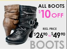 $10 off ALL Boots