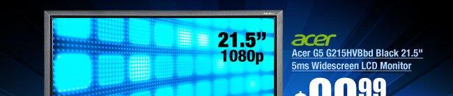 "Acer G5 G215HVBbd Black 21.5"" 5ms Widescreen LCD Monitor"