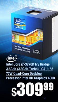 Intel Core i7-3770K Ivy Bridge 3.5GHz (3.9GHz Turbo) LGA 1155 77W Quad-Core Desktop Processor Intel HD Graphics 4000