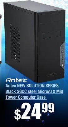 Antec NEW SOLUTION SERIES Black SGCC steel MicroATX Mid Tower Computer Case