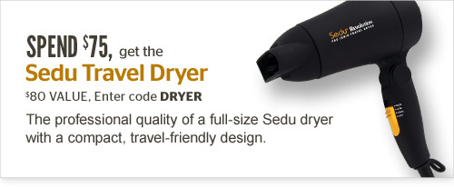 Spend $75, get the Sedu Travel Dryer