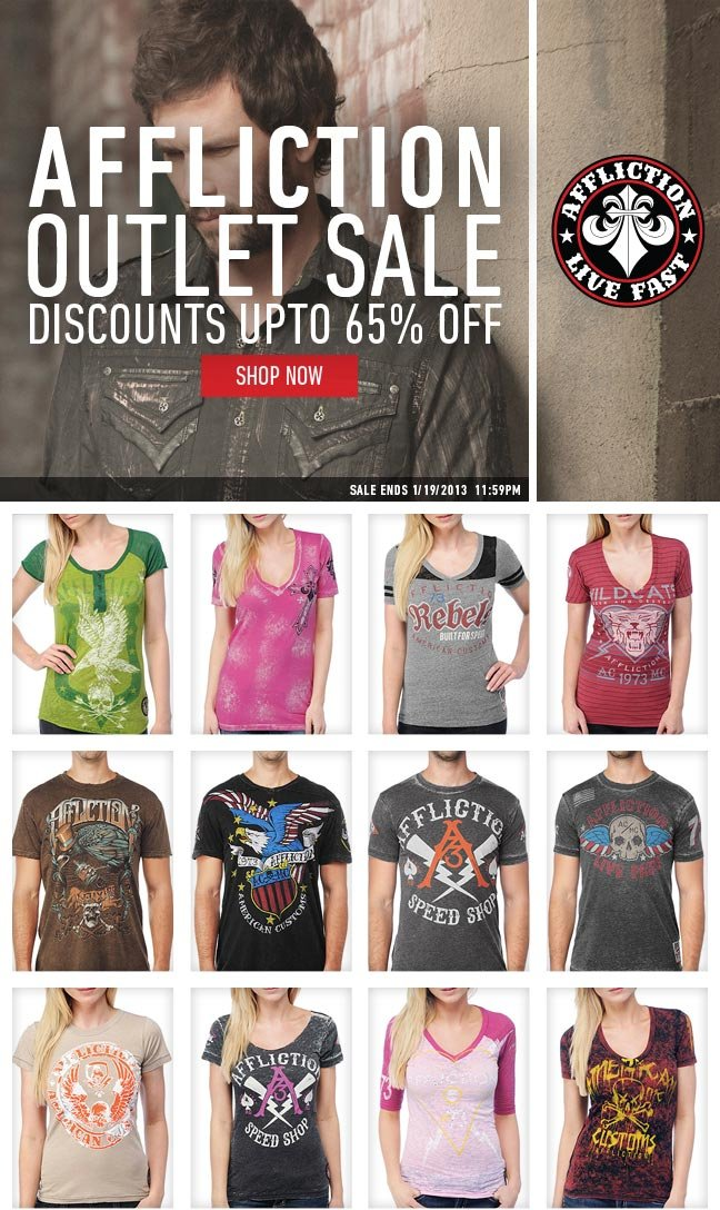 Affliction Outlet Open + Save up to 65%
