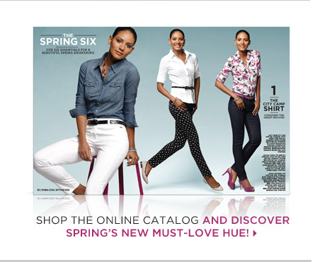Shop the online catalog and discover Spring's must-love hue!