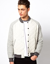 ASOS Varsity Jacket In Quilted Fabric