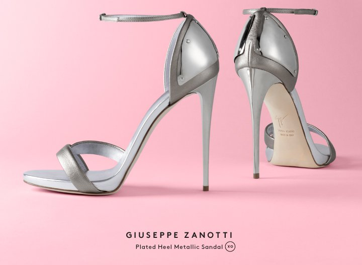 Metal mania: Shop silver sandals by Giuseppe Zanotti and more.