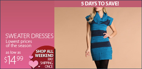 Sweater Dresses. Lowest Price of the Season