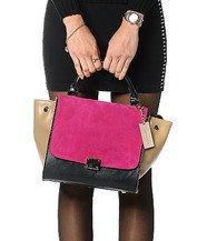 Zecchino - Genuine Leather Color-Block Satchel
