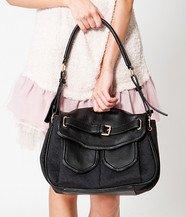 Dual-Pocket Shoulder Bag