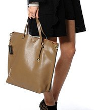 Zecchino - Genuine Leather Tote with Leopard Print Pouch