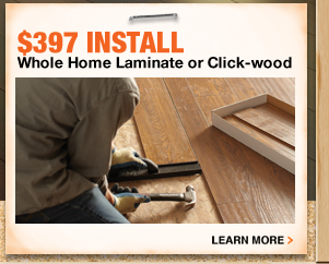 Whole Home Laminate or Click-wood