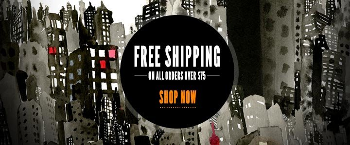 Free Shipping on orders over $75 ( $125 International )