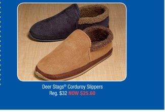 Deer Stags® Corduroy Slippers