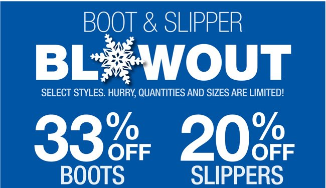 Boots and Slippers Sale