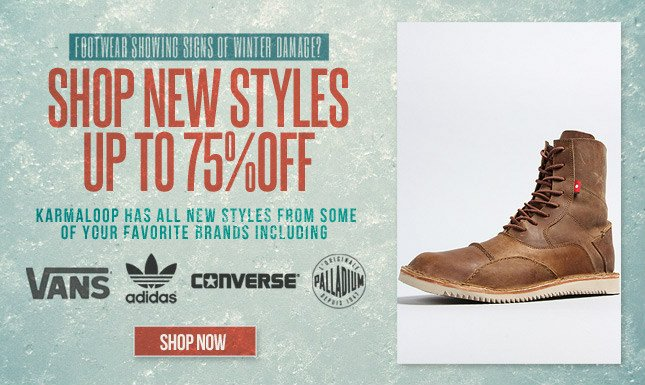 Shop New Footwear Styles! Up to 75% Off!