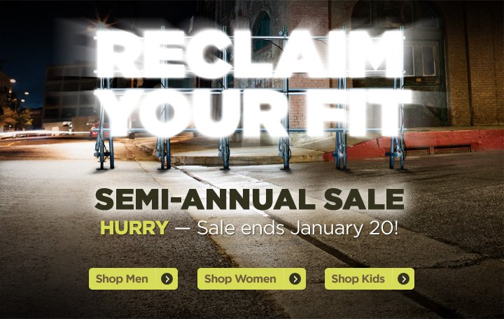 Semi-Annual Sale: Reclaim Your Fit!