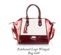 Embossed Logo Winged Bag
