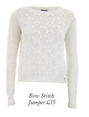 Bow stitch jumper