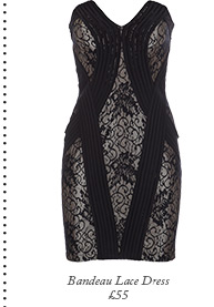 Bandeau Lace Dress