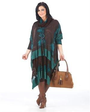 Zedd Plus Multicolor Layered Lace Inserts Embellished Tunic