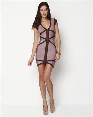 Stretta Zipped Bandage Dress