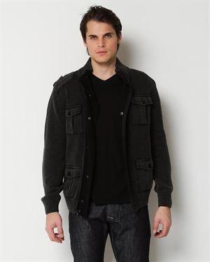 Antique Rivet Knitted Zip Jacket