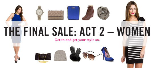 THE FINAL SALE:ACT 2 – WOMEN